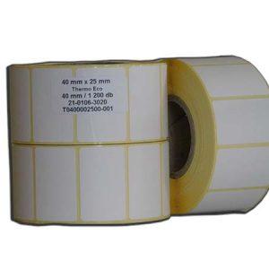 etikett termó címke 40x25