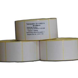 etikett termó címke 43x38mm