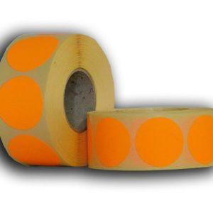 körcímke fluó narancs