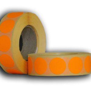 narancssárga körcímke