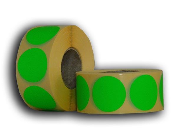fluó zöld körcímke
