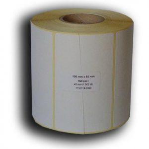 100x50 papír címke