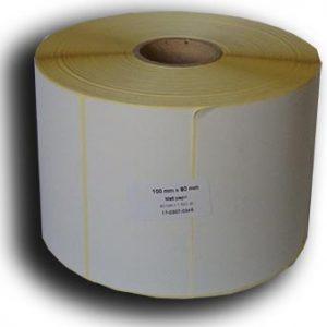 100x80 papír címke