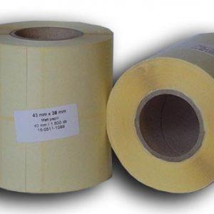 43x38 papír címke