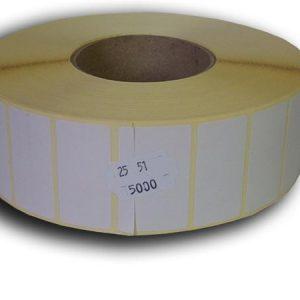 51x25 papír címke