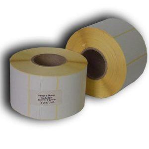 58x38 papír címke